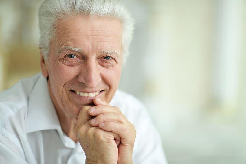 senior man with happy smile
